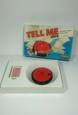 TELL ME QUIZ RETRO VINTAGE BOARD GAME WITH CARDS a4