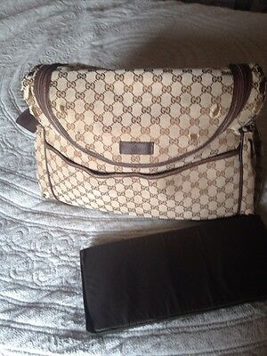 Authentic Gucci Baby Diaper Bag With Changing Pad