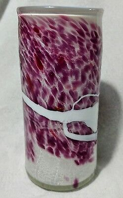 Vintage Australian 16Cm Art Glass Vase. Made And Signed By Peter Goss In 1982