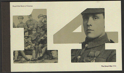 Dy 11 2014 Of The Great War Royal Mail Prestige  Booklet
