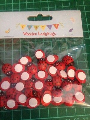 Beautiful Wooden Small ladybirds For Card making/crafts
