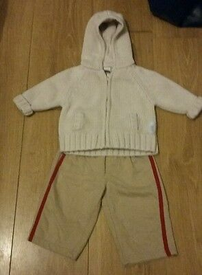 boys cardigan & bottoms size 6-9 months
