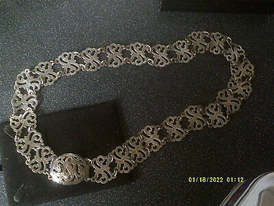 Antique/vintage Chased Patterned Belt,foreign Mark.lovely