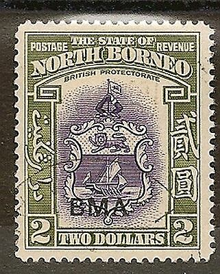 NORTH BORNEO 1945 KGVI BMA OVPTS  TO $2 SG320/33 VERY FINE USED ( No $1)