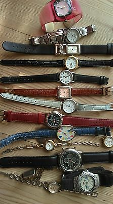 Job Lot Of 16 Mainly Ladies Watches Requiring Batteries And Straps