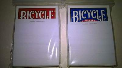 2x Bicycle STRIPPER Decks Of Playing Cards red&blue Tapered Magic +instructions