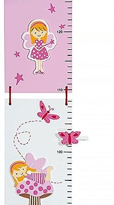 Height Chart Wall Growth Measure - Children's Fairy Theme For Girls Nursery Or