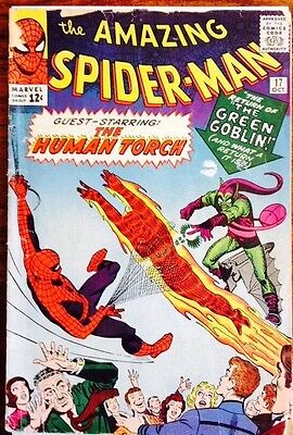 Amazing Spiderman #17 1964 2nd App Green Goblin Cents Copy Silver age Marvel