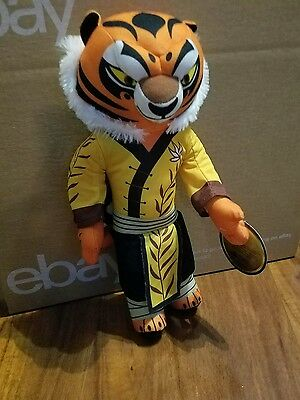 "2016 Dreamworks Kung Fu Panda 3 Apx 14"" Master Tigress Plush Toy Factory w Tag"