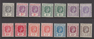 Mauritius 198 part set to 1R with shades
