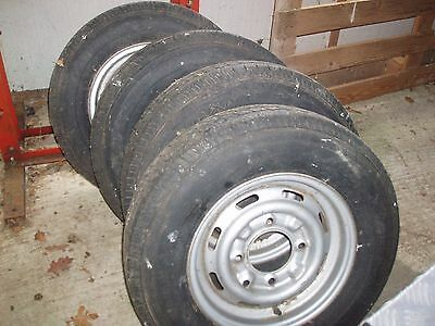 Ifor Williams horse trailer wheels & tyres - good condition