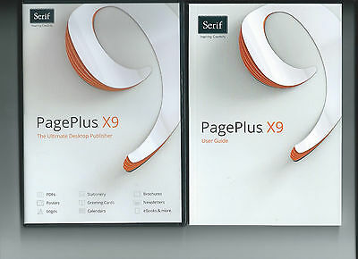 Serif PagePlus X9 RRP £89.99 Only £34.99 with a free 135 page Guide....