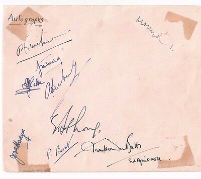 Autograph page from 1952 of Academics including J A TODD Mathematician FRS