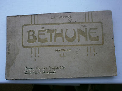 "VINTAGE POST CARDS ""BETHUNE"" FRANCE CIRCA 1900's x 19 in booklet"