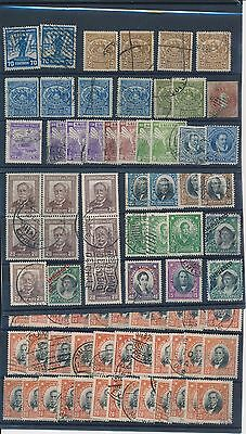 2086) CHILE, SMALL BOX(30x20x5) WITH APPR. 20 STOCK CARDS WITH STAMPS