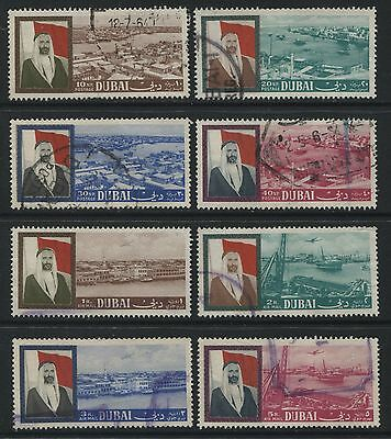 Dubai: 1964 Views set of 8 stamps to 10 rupees SG8188 Used - AF308
