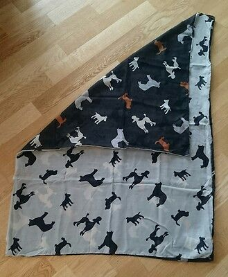 Snood scarf with Bull Terrier Poodle dogs
