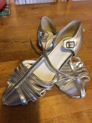 Silver Dance Shoes Size 2