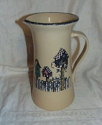 """Large 2004 HOME & GARDEN PARTY 96oz Birdhouse Pitcher 10"""" Tall"""