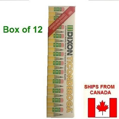 Dixon Ticonderoga Wood-Cased Pencils, #2.5 F, Yellow,  Box of 12 (13885) New