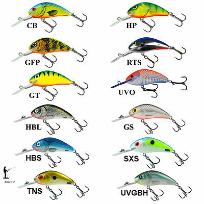 Salmo RATTLIN HORNET Diving crankbait  4,5cm Floating 6g. VARIETY COLOURS