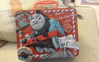 THOMAS & FRIENDS Puzzle TIN / METAL LUNCH BOX IS IN Nearly New USED CONDITION
