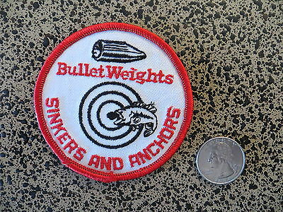 Vintage Mint Fishing Patch - BULLET WEIGHTS - 3  inch