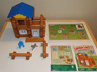 K'NEX LINCOLN LOGS Wolf's Lodge Playset - Complete Set - Wolf & Cavalry Figures