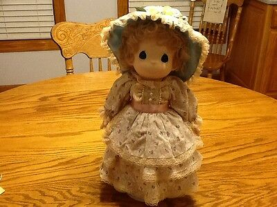 PRECIOUS MOMENTS CHARITY PORCELAIN BISQUE DOLL W/ Tag & Stand W
