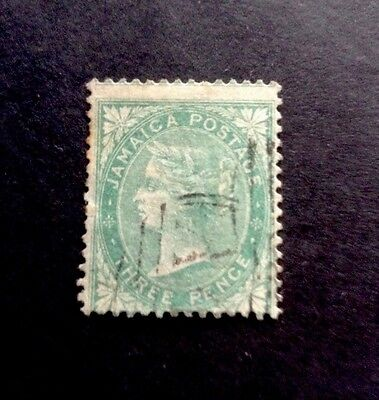 JAMAICA, SG 3. 3d. Green. Used.