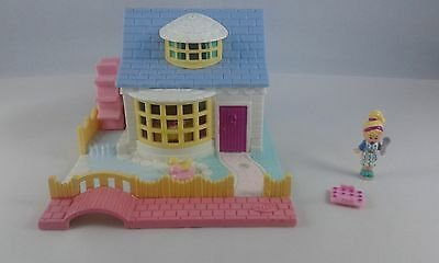 Vintage Polly Pocket Grandmas Cottage Set & Polly Figure & Tray Bluebird 1994