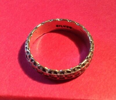 vintage silver marcasite ring for repair stones missing marked silver