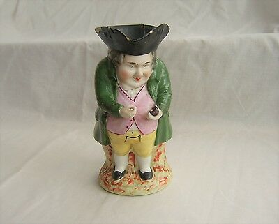 Antique Toby Jug With Gold Anchor Mark, Chelsea? - As Found