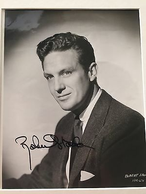 Genuine Hand Signed Robert Stack Portrait Photo