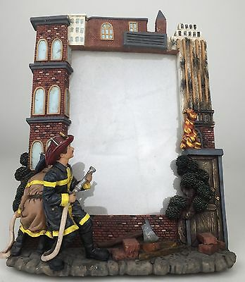 Vanmark Red Hats Of Courage Fireman Firefighter Photo Frame Rare Great Gift!