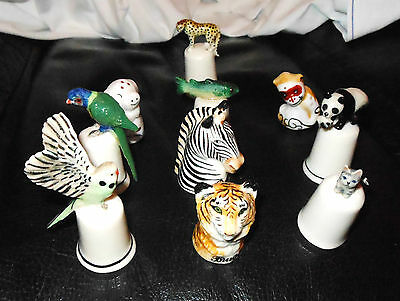 10 Porcelain Collector's Thimbles.  Birds & Animals.  Lovely Items.