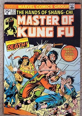 Master of Kung-Fu (1974-1983) #22 VFN Bronze Age Marvel Comic