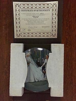 "Sound Of Music Edwin M. Knowles ""Maria"" Collectable Plate"