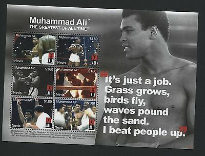 "Nevis: Muhammad Ali Miniature Sheet ""The Greatest Of All Time"" MNH - AF321"