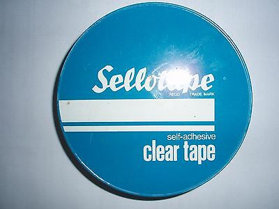 Old SELLOTAPE TIN MINT CONDITION