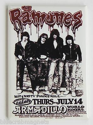 The Ramones FRIDGE MAGNET (2 x 3 inches) concert poster music joey ramone