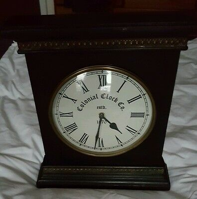 Colonial Clock Co Est 1870 Antique Style Free Standing Or Wall Clock