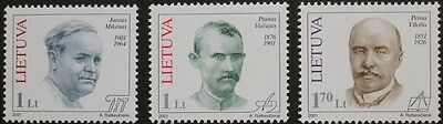Anniversaries stamps, 2001, Lithuania, SG ref: 753-755, 3 stamp set, MNH