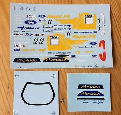Brand New Btcc Ford Mondeo Model 1:43 Decals For Rydell, Menu Or Reid, 3, 11, 12
