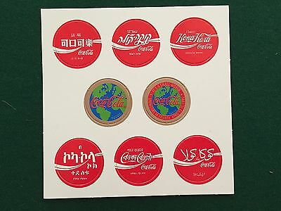 Coca Cola Pogs Of The World Collector's Set 1 - 8 ; 2 Complete New, Unused Sets!