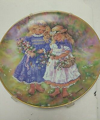 "The Leonardo Collection ""Flower Gatherers"" Fine Porcelain Plate"