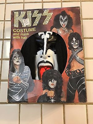 Vintage 1978 Kiss Collegeville Gene Simmons Costume Rare Size Jr 13-15 Years Old