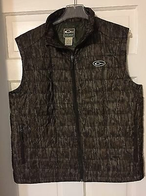 Drake Synthetic down Vest Mossy Oak Bottomland Large
