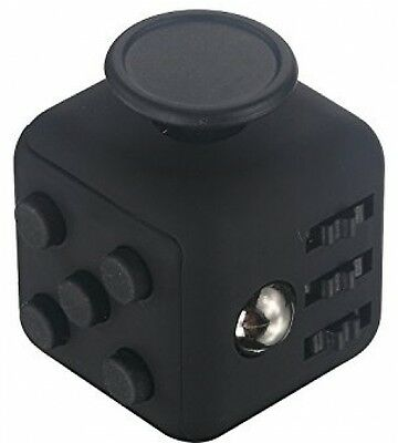 ELander Fun Fidget 6 Sided Cube [Black] Relieves Stress And Anxiety For And For