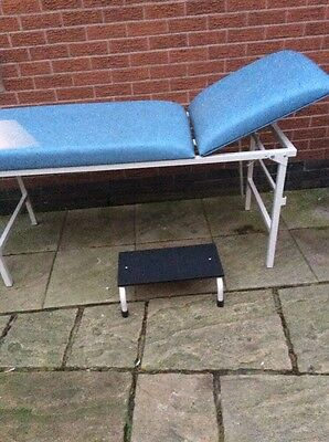 Medical Bed (Bristol Maid) Baby Blue With Stool